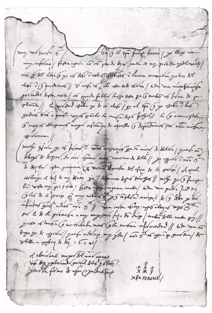 the columbus page from lost treasure hunt is based on existing columbus documents such as this letter fragment from the library of congress washington